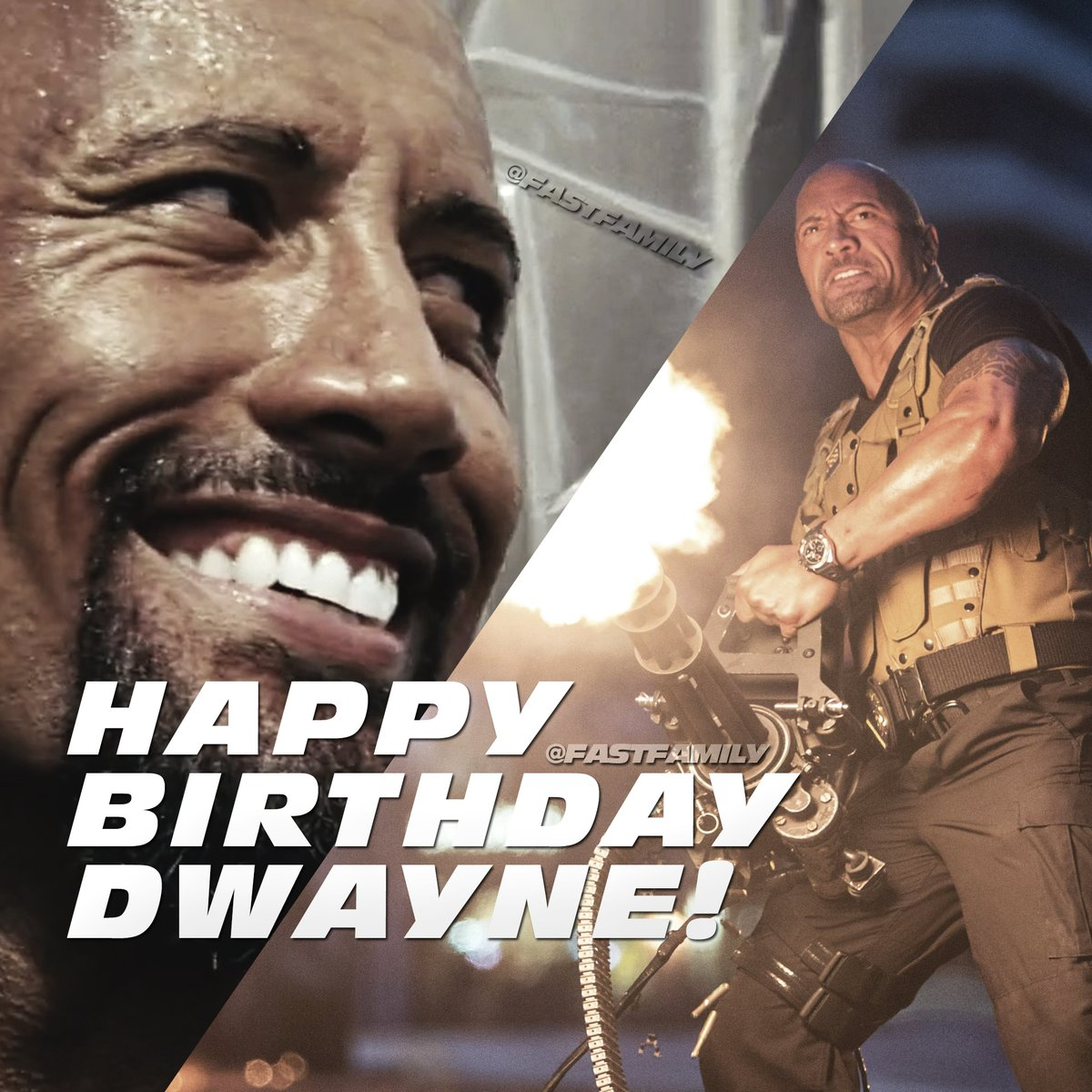 He's what you call an ice cold can of whoop-ass. No matter what happens, — family is forever.  Happy Birthday, Dwayne! @TheRock #LukeHobbs #F9 https://t.co/tipzU2TNQ5
