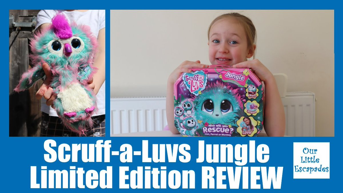 "AD/Gifted we were sent a lovely bundle of #ScruffaLuvs from #moosetoys in our latest video we open the ""Scruff a Luvs Jungle Limited Edition REVIEW - Wash & Reveal Scruff-a-Luvs Unboxing"" @ScruffALuvs @moose_toys #toyunboxing #toyreview  Watch Now:"