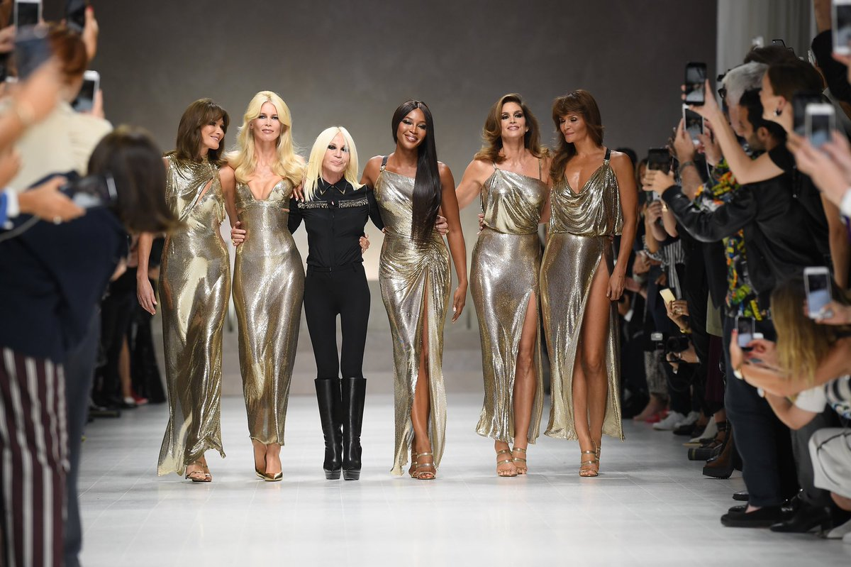 """Happy 65th Birthday, Donatella Versace. """"Fashion is a weapon that you can use when you need it."""""""
