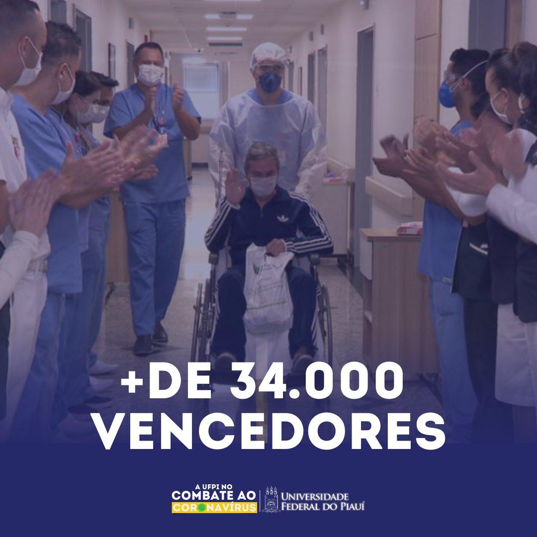 O nosso país registra mais de 34 mil pessoas curadas ou em recuperação do coronavírus. Isso nos traz esperança e a certeza de que juntos nós vamos vencer essa guerra!  FAÇA SUA PARTE: #FiqueEmCasa  #ufpi #coronavirus #minhaufpi