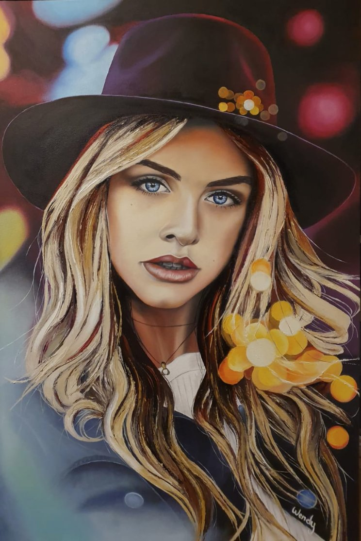 Oil on canvas; 91 x 61cm / 36 x 24 inches; Model is the beautiful @marooshkmoments