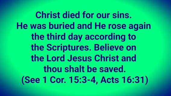 """Gabrielle Mary+X on Twitter: """"Christ died for our sins. He was buried and  He rose again the third day according to the Scriptures.Believe in the Lord  Jesus Christ and thou shalt be"""