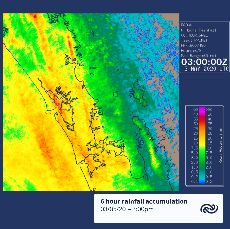 @StuartSmith43 Up to 20mm or so in the last 6 hours for several stations, at least 10mm for most. ^TA https://t.co/szIZdaRKGo