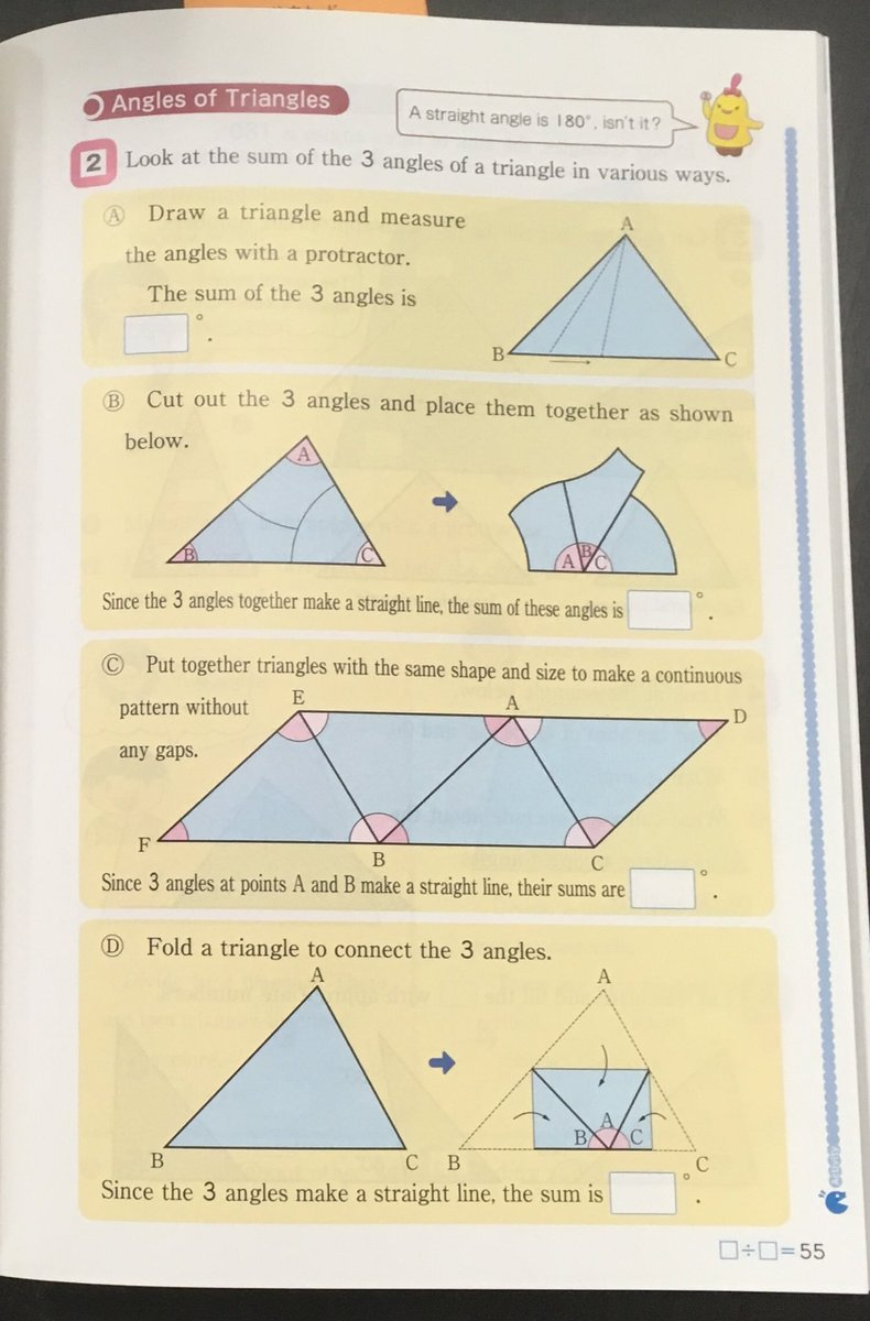 Four different ways to understand how the angles in a triangle sum to 180 degrees.