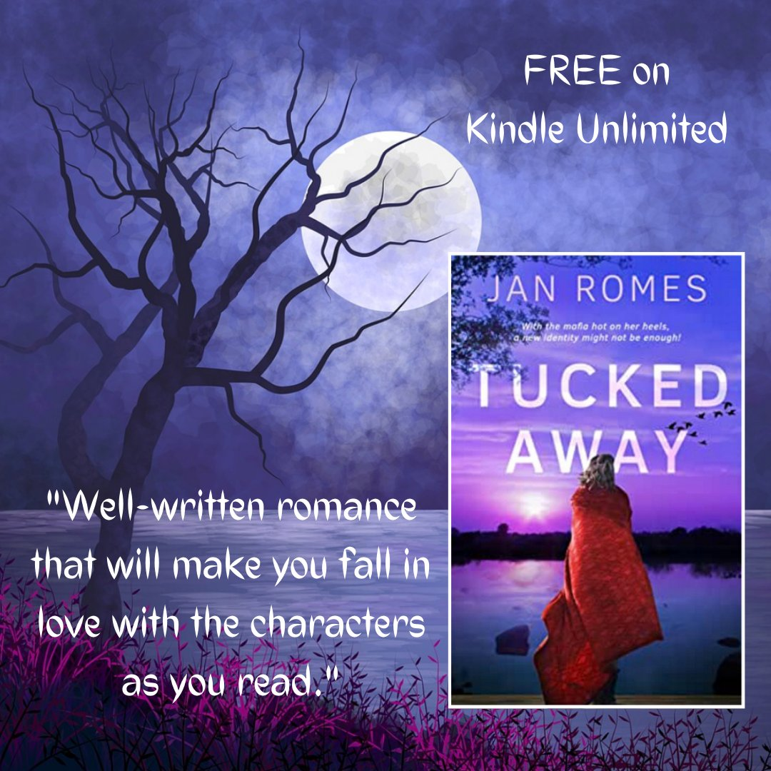 💜 💜 TUCKED AWAY! 💜 💜 A fun & suspenseful read! 💥 Secrets have cloaked Renees entire existence - from birth to the present. She longs for answers. 🌀 Great story by @JanRomes! 🌝 #WitnessProtection 💓 amzn.to/2Gk9dxi 📕 #Romance 💟 #suspense #KU