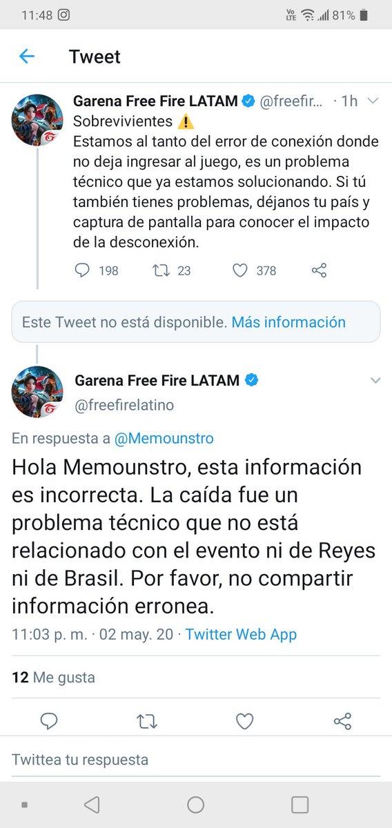 Jaja y ahora que hizo Memounstruo ? Coml que siemprense va de boca #FreeFireLeague #frefirepic.twitter.com/R0rEY11kTJ