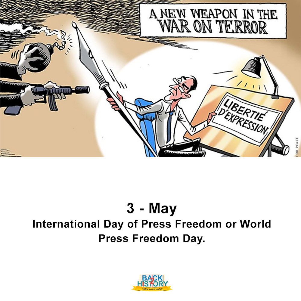3 - May - International Day of Press Freedom or World Press Freedom Day. . . #History #Historymemes #WorldHistorymemes #WorldHistory #InternationalDayofPressFreedom #WorldPressFreedomDay #onthisday #OnthisDaymemes #OnthisDayinHistory #Back_2_History #back2History #BacktoHistorypic.twitter.com/8IqV5Sm5LL