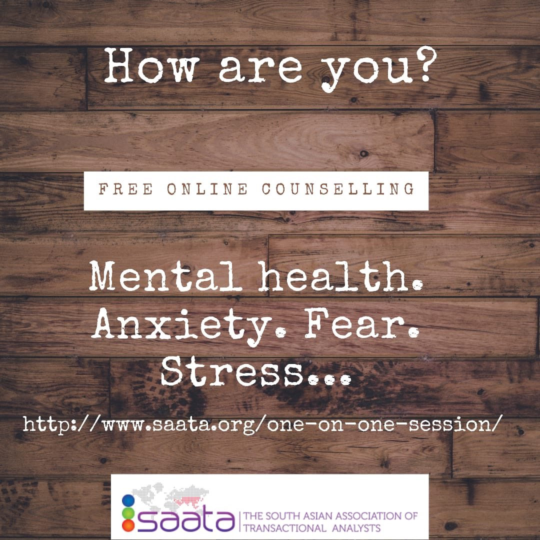 Mental health is as important as our physical health.! If you are not feeling okay, seek help. It's perfectly fine. Here's the link for free online counselling by 'Saata'.! Some of the best counsellers waiting to help us in our own language.! #MentalHealthMatters #Share https://t.co/7LZav0L3Md