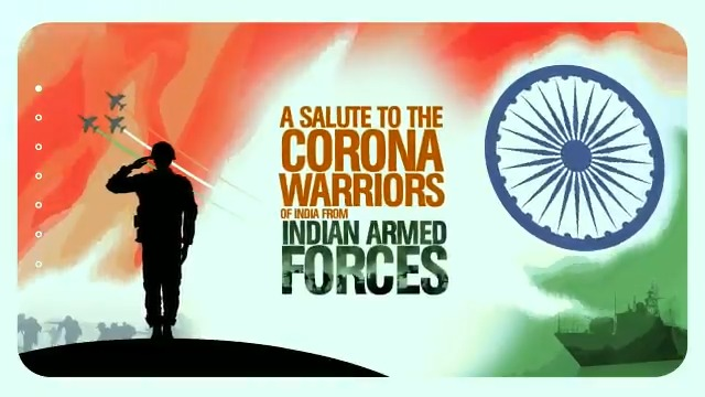 Saluting those who are at the forefront, bravely fighting COVID-19. Great gesture by our armed forces.