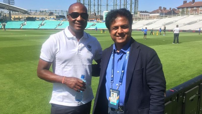 Happy birthday to not just a good batsman but also a lovely human being, with Brian lara at Oval London.
