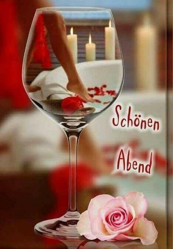Romantisch schönen abend Romantischer Nachmittag