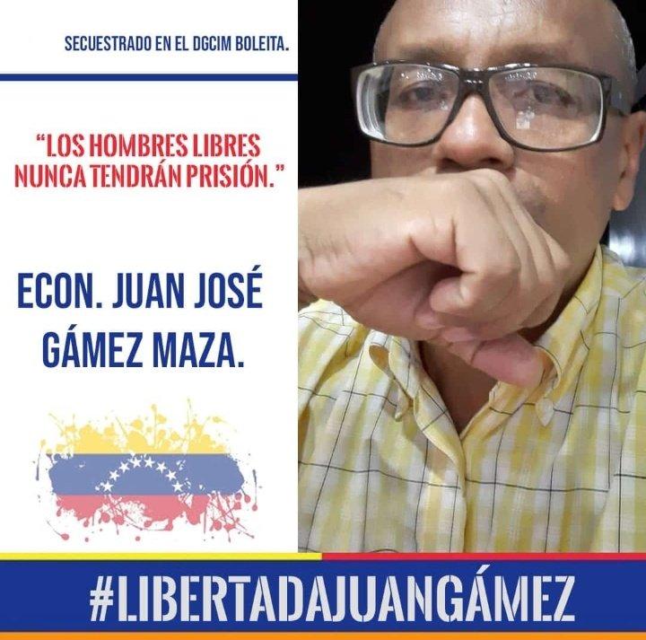 Hoy mi hermano Juan Gámez está cumpliendo un año más de vida esta vez tras las rejas pagando un delito que no cometió. Seguiremos hasta lograr tu libertad #LiberenAJuanGamez @mbachelet https://t.co/kSl7jAvBk6