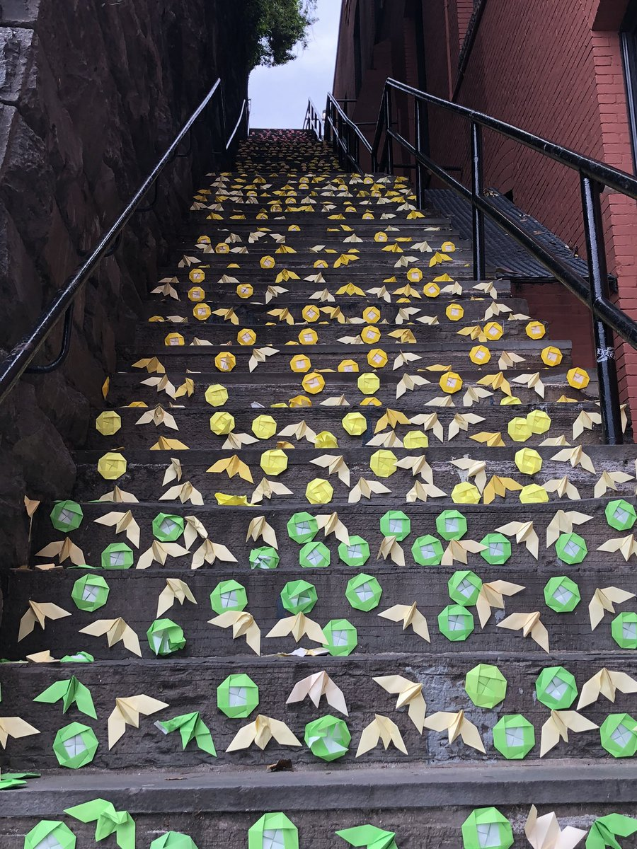 Some Covid creativity on the Exorcist steps this morning.