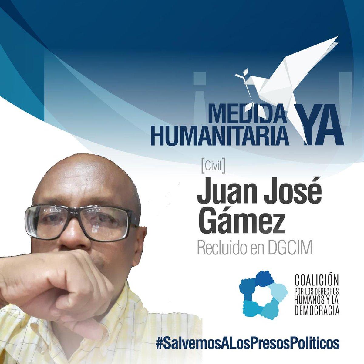 Muchos de los #PresosPoliticos se  encuentran lejos de sus hogares,  familia y amigos.  #JuanGámez es uno de los 460 PP que  ya tiene 132 días sin ver a su familia y abrazarla. Juan cumple hoy un año más de vida en un encierro injusto  acusándolo de delitos que no ha cometido. 🇻🇪 https://t.co/uVu4KtRhtp