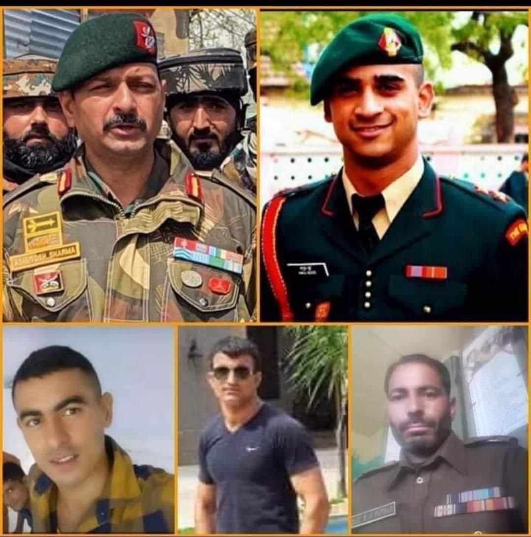 #भारत मां के वीर सपूत #कर्नल #आशुतोष शर्मा, #मेजर #अनुज सूद, #नायक #राकेश कुमार, #लांस_नायक #दिनेश सिंह और #एसआई #शकील काजी की शहादत को शत शत नमन 🏵  #HandwaraEncounter @hanumanbeniwal @RLPINDIAorg @DilsukhRay_RLP @adgpi @jaat_singham https://t.co/356ZySykBu