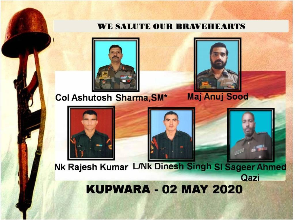 Saluting these bravehearts who lost their lives protecting the country. Sincere condolences and prayers for the families. Jai Hind & R.I.P. 🙏 #Kupwara #IndianArmy