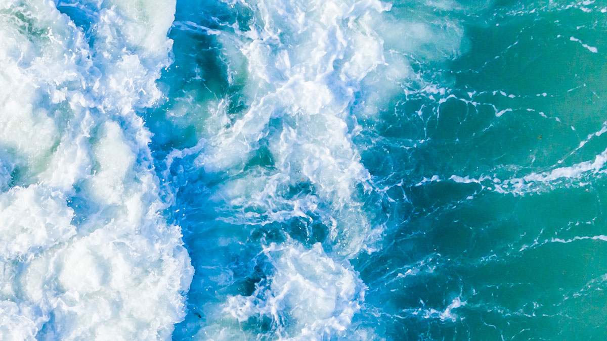 'The sea is a wilderness of waves, A desert of water.' –Langston Hughes
