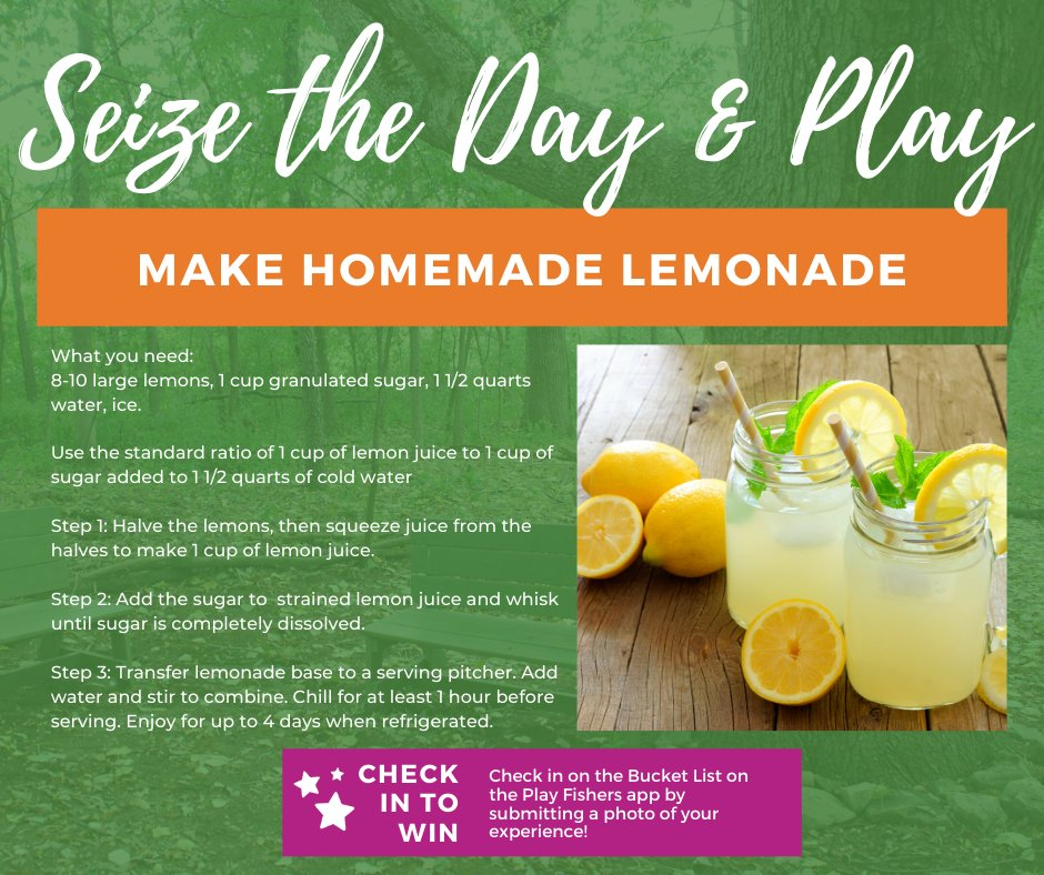 Fishersparks On Twitter Happy Nationallemonadeday Learn How To Make Lemonade By Scratch With This Little Chef S Recipe Instructions Https T Co 4sk7il55vg Playfishers Https T Co Xtzpasegyq