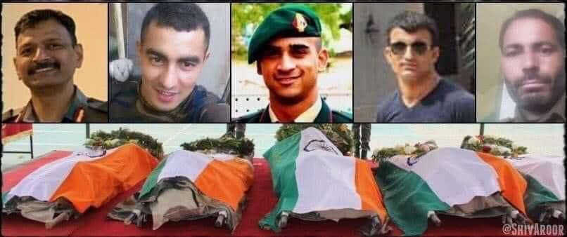 #हंदवाड़ा में #भारत मां के वीर सपूत #कर्नल #आशुतोष शर्मा, #मेजर #अनुज सूद, #नायक #राकेश कुमार, #लांस_नायक #दिनेश सिंह और #एसआई #शकील काजी की शहादत को  शत शत नमन जिन्होंने देश की सेवा करते हुए  सर्वोच्च बलिदान दिया  वन्दे मातरम्।जय हिन्द जय हिन्द की सेना। https://t.co/w0eY25sDJm