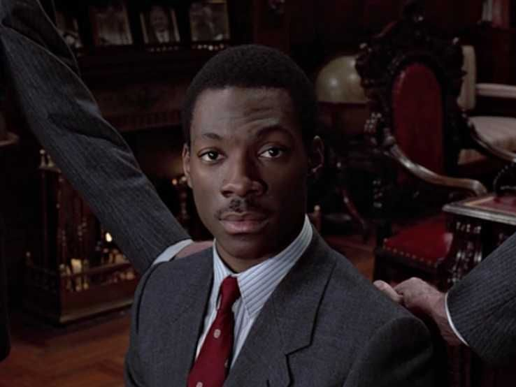 """Eddie Murphy breaking the fourth wall in """"Trading Places"""""""