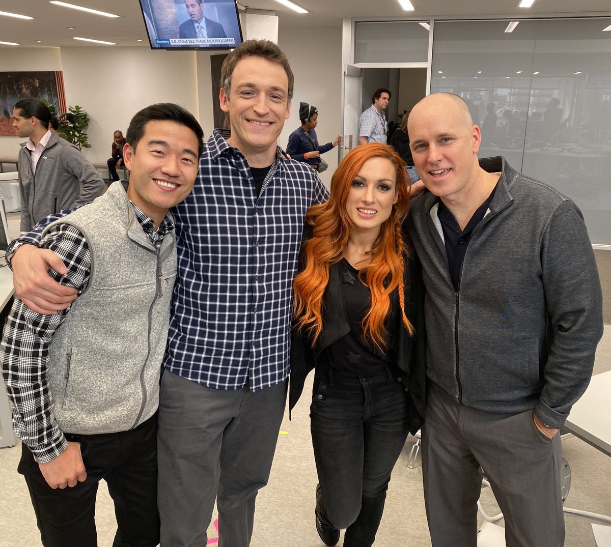 Ladies and gentlemen… THE MAN!  Funny as hell, awesome one set, and great to work with. She nailed it. Great to meet you @BeckyLynchWWE Thanks for coming to play!  #Billions @SHO_Billions https://t.co/EGN0rJYuIw