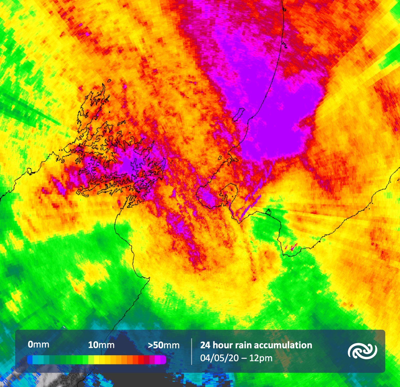 Not just up north, but further south has been wet too! Rain and showers for the lower North Island, as you can see in this radar accumulation.   ^Tui https://t.co/JSfq908VVi