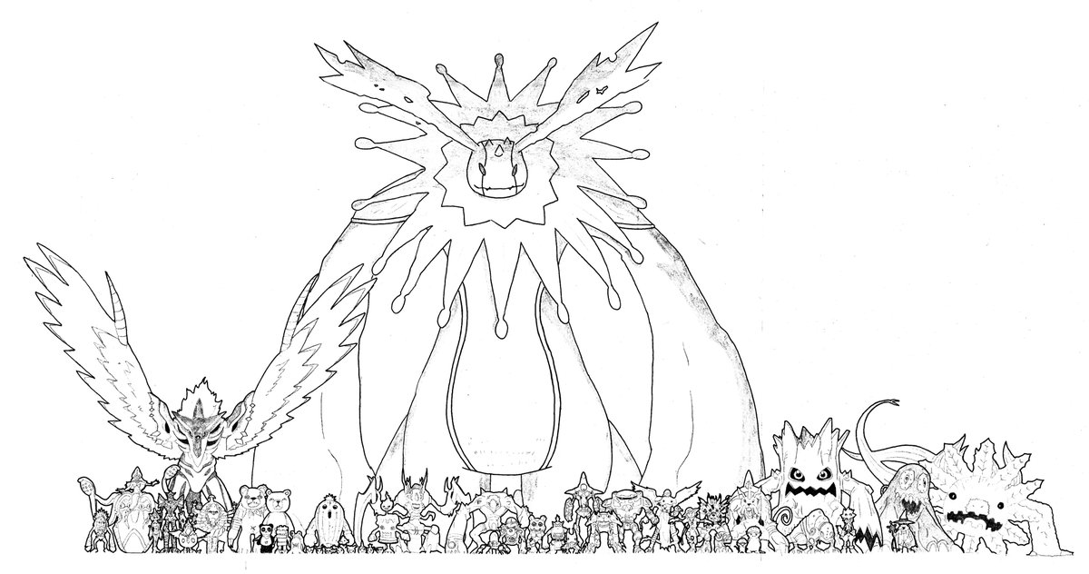 Joe and Gomamon from Digimon anime coloring pages for kids, printable free | 632x1200