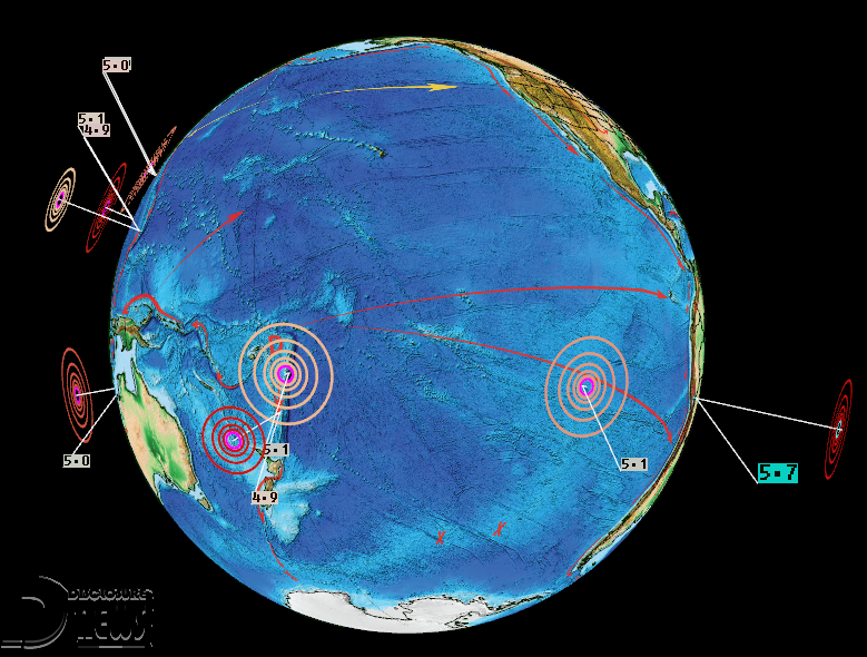 News Burst 4 Maggio 2020 - M5 Earthquakes Pacific