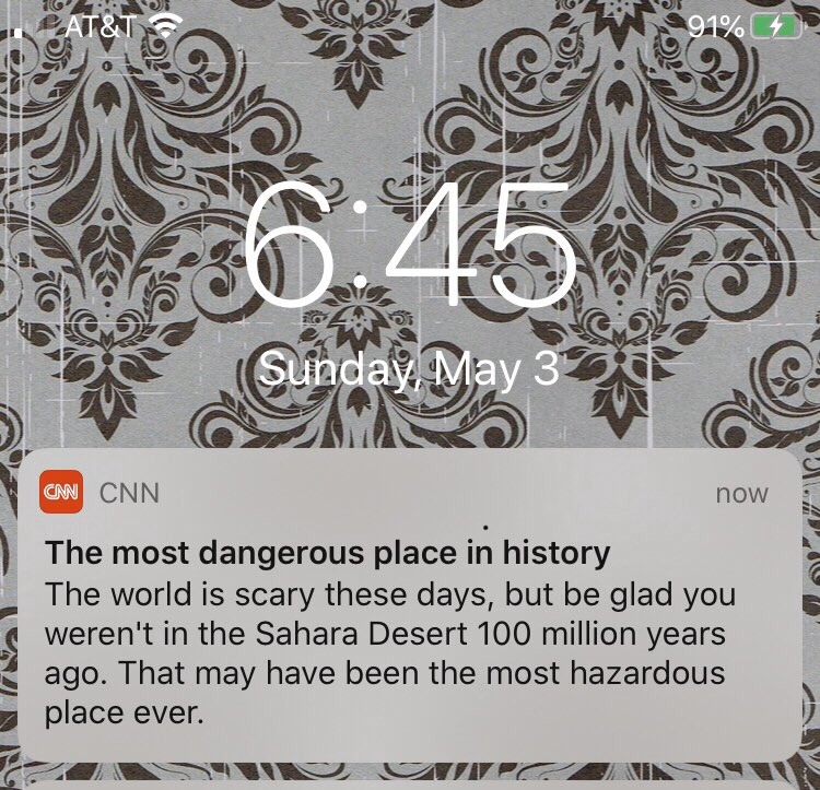 Is this where we are? I have to be grateful for this, so much so that it demands a news alert?