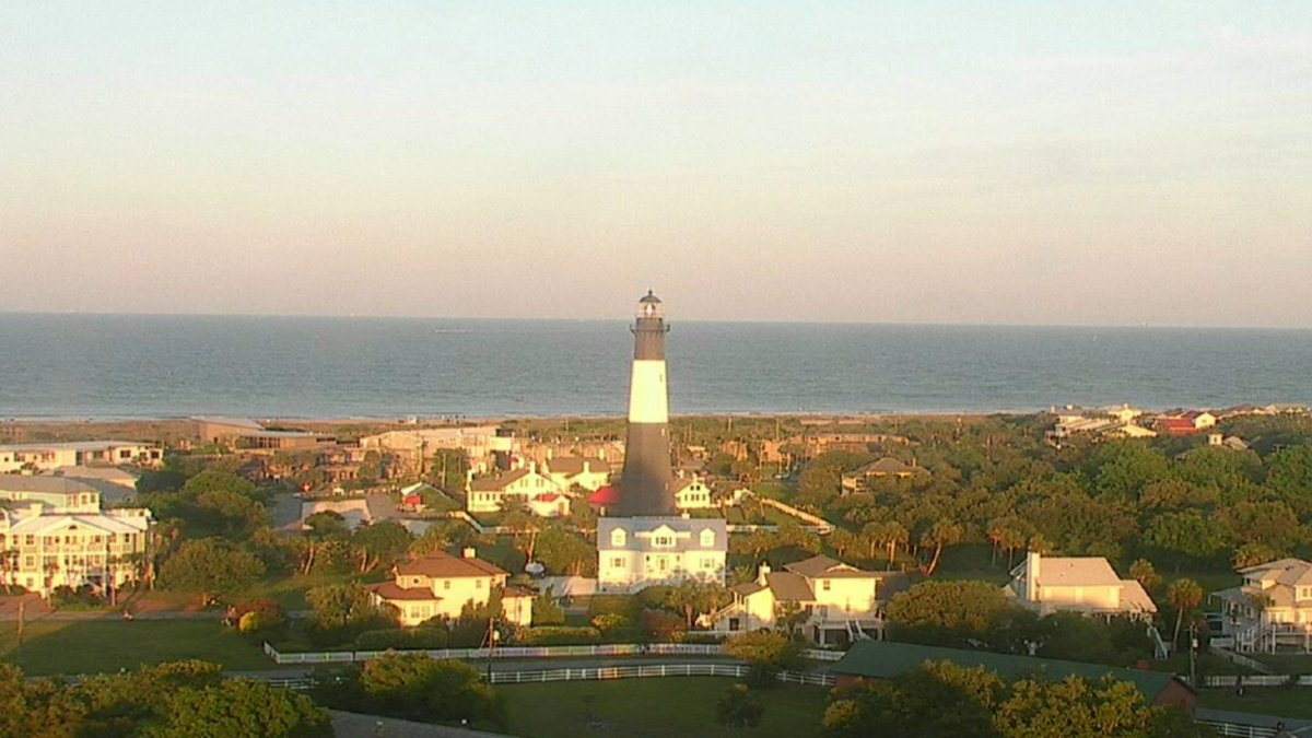 Tonight's view of Tybee Island is looking pretty nice.