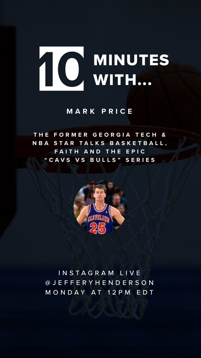 If you're enjoying the #TheLastDance  on @ESPN, join @Mark25Price and me over lunch tomorrow on Instagram. We'll talk 🏀 and much more. https://t.co/MIIPBicHKj