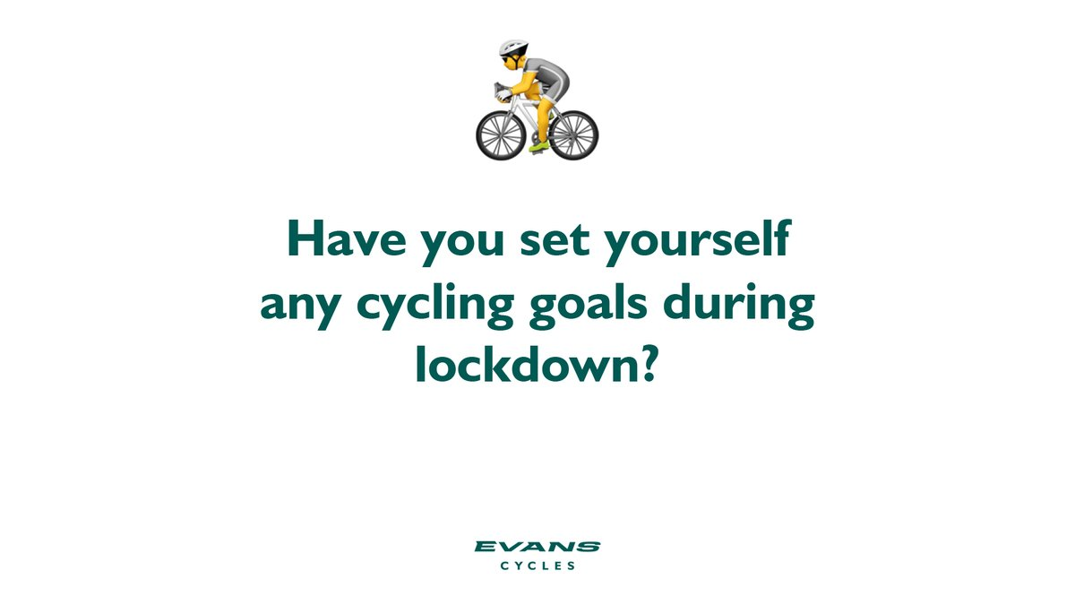 💡 We've seen some inventive ways to keep up the bike fitness during lockdown, from garden sportives to big mileage on the turbo.  ✍️ Tell us if you've set any cycling goals to keep you going. https://t.co/iJXAwetVx8