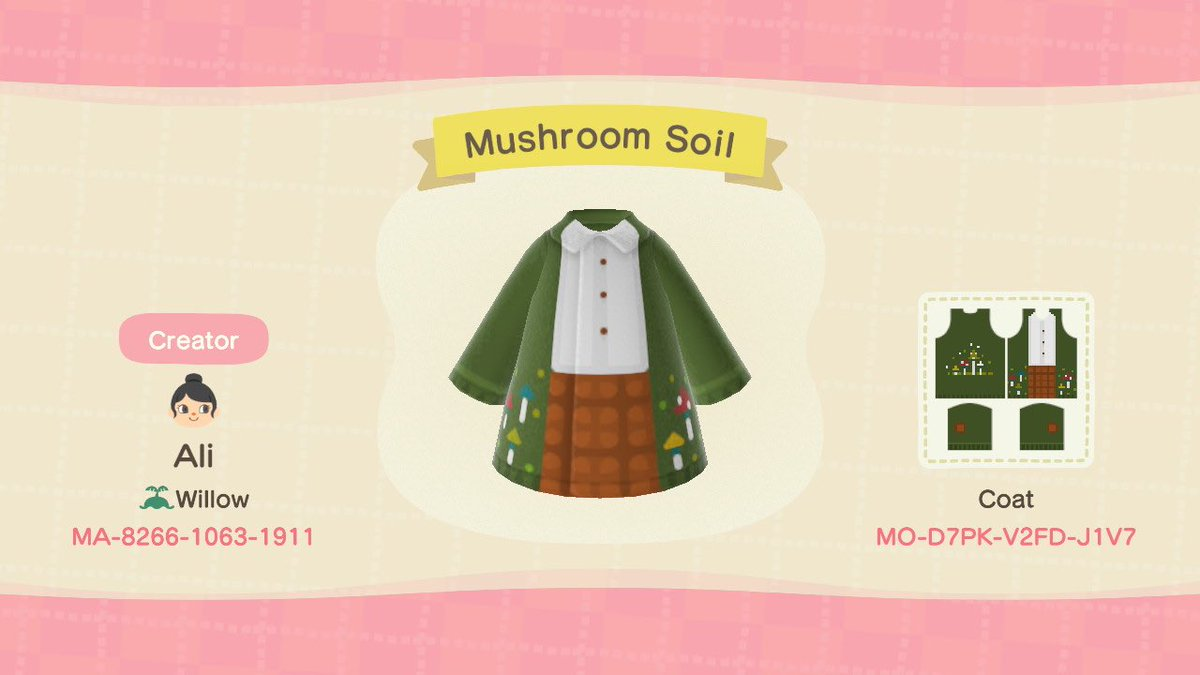 Since you all voted Mushroom, I made a mushroom outfit! 🍄🤍I hope you all enjoy & once again.. thank you for all the love & support! ☺️#どうぶつの森 #マイデザイン#ACNH #ACNHDesign #acnhdesigns
