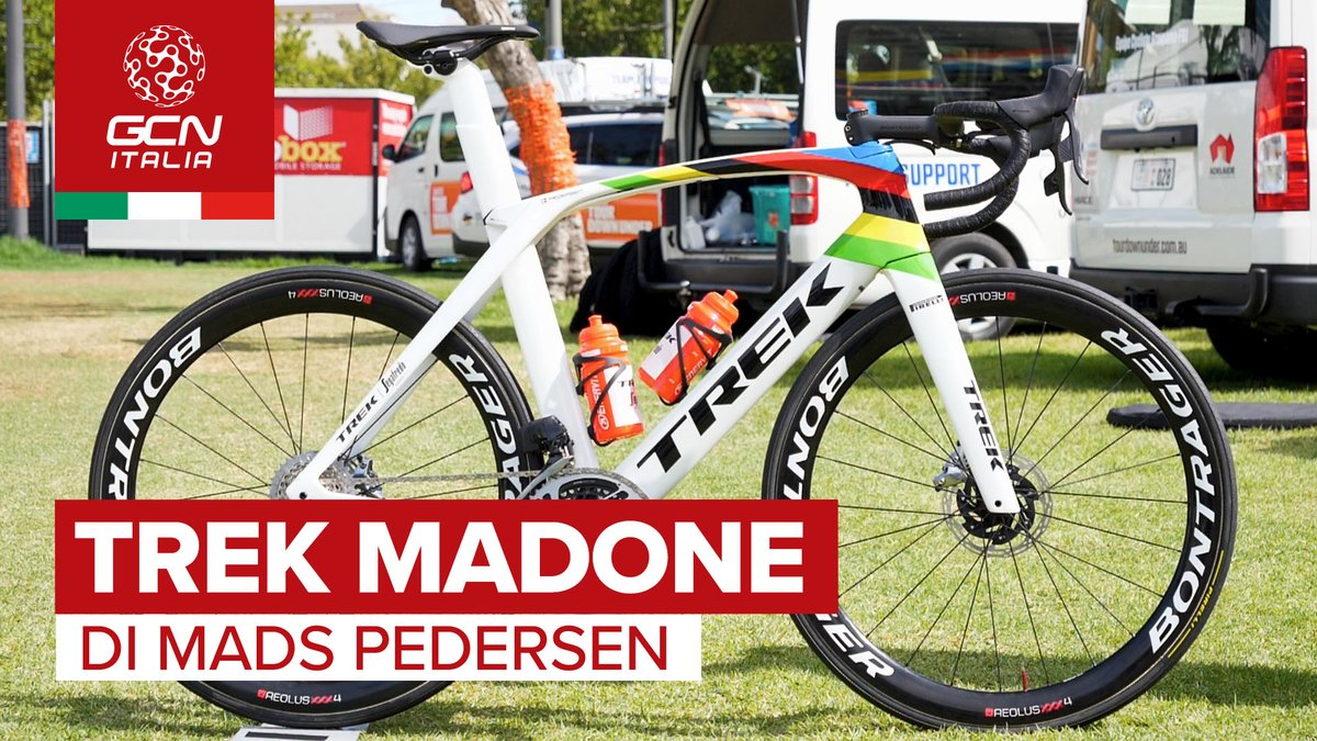 La bici del campione del mondo @Mads__Pedersen 🔥    #bici #ciclismo #trekmadone #madspedersen #yorkshire2019