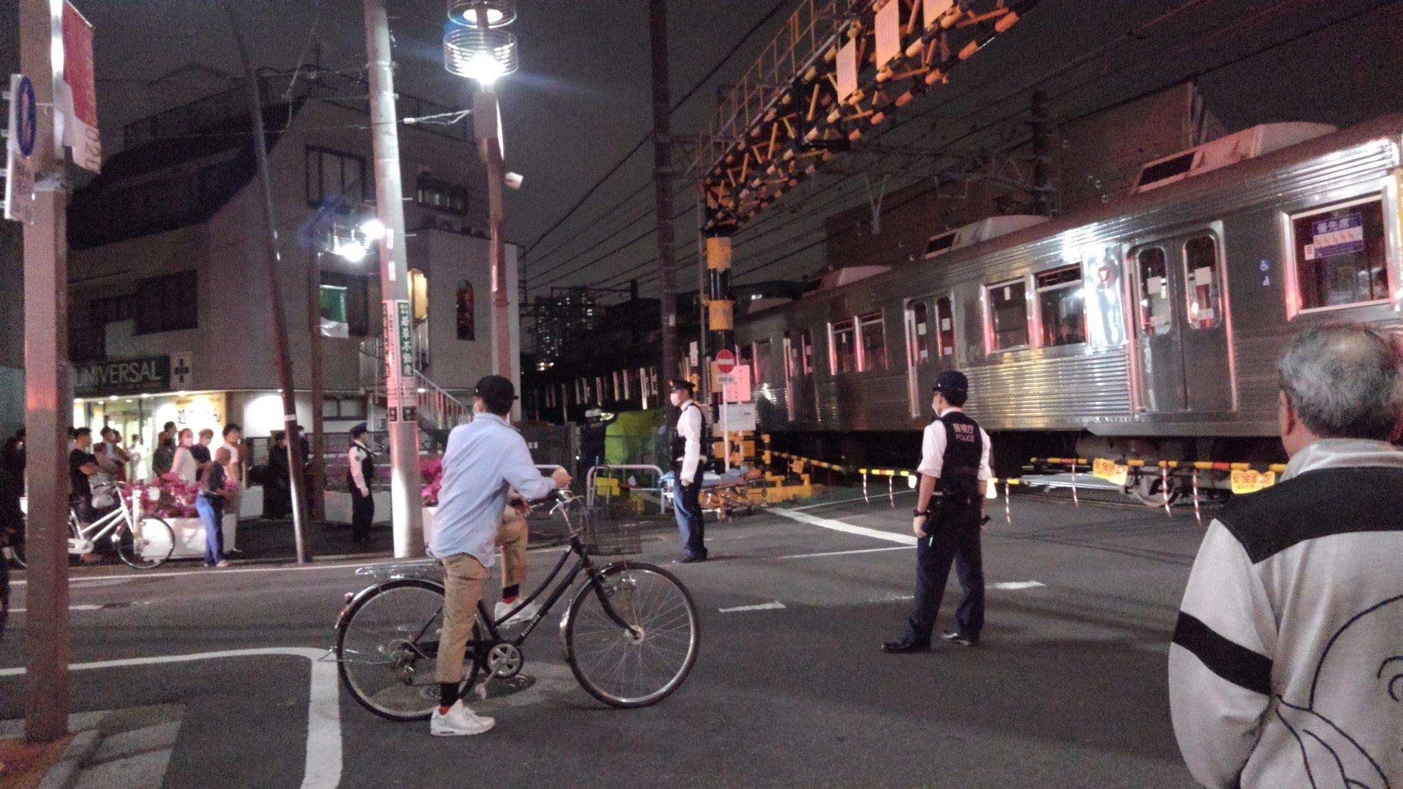 鐘ヶ淵駅で人身事故が起きた現場の画像