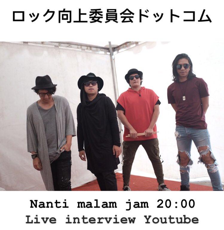 Live interview J-ROCKS di youtube channel Rock Enhancement https://t.co/jXdFrfR4wR dari Jepang.   4 Mei 2020 Malam ini jam 20:00 WIB atau 22:00 JST  Klik link dibawah ini: https://t.co/q44Wf5xVH8  Sampai jumpa!!! https://t.co/LGfv8eobHc