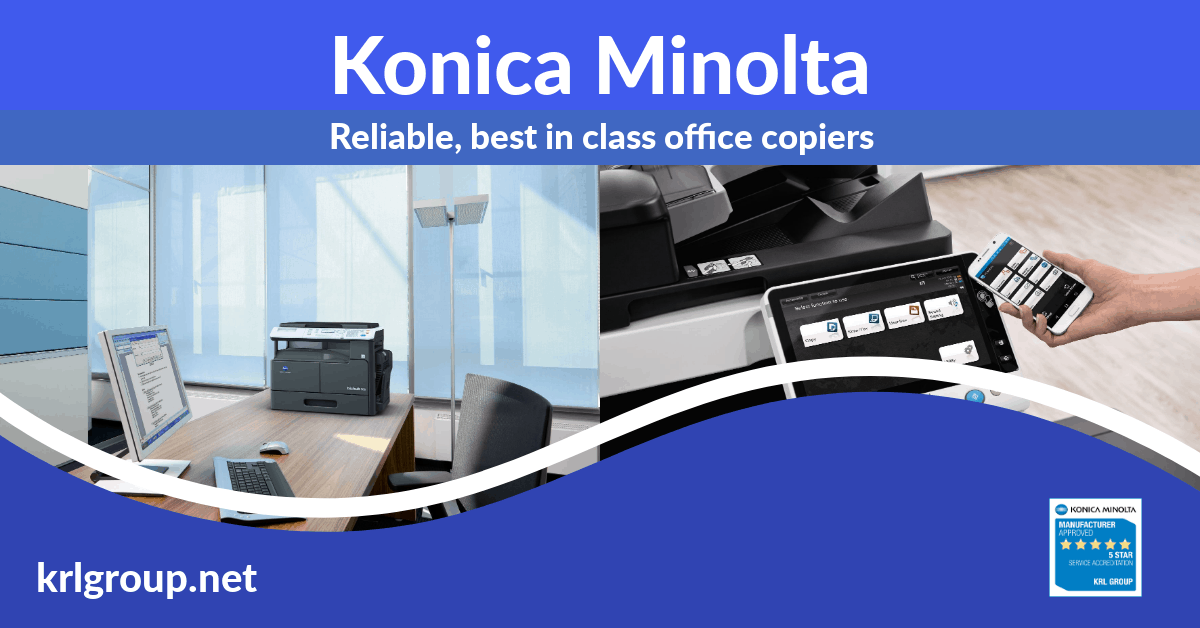 Konica Minolta mulit-function A3 and A4 copiers, service, sales and support #krl #copiers https://t.co/dVSddRN4Eb https://t.co/Djnf8zdFKA