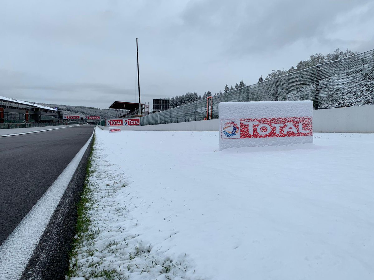 #OnThisDay 4th of May 2019 - A snowy race day morning in @circuitspa...and you know what happened next! We won't forget this moment for a long time. 🥶❄️  #WEC #6hSpa https://t.co/0CieiOIISM