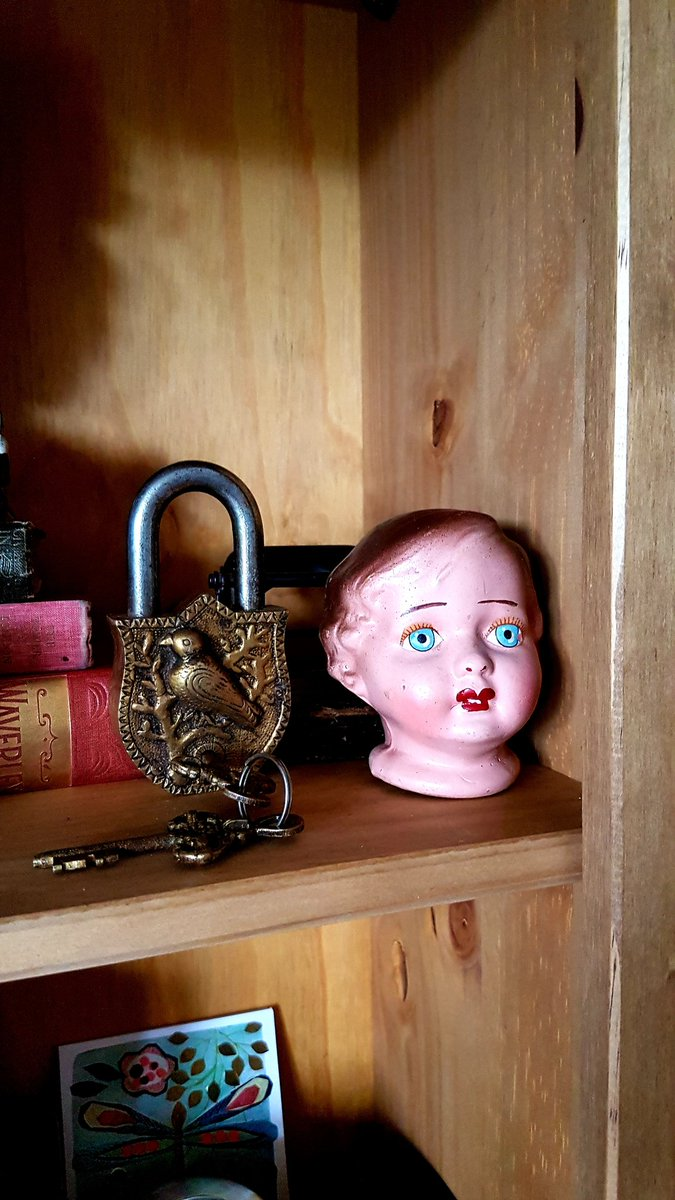 When the boys are acting up, I threaten them with Marjorie and her padlock.   I secretly move her around the house to keep the fear fresh #Marjorie https://t.co/UDjOg4AdAb