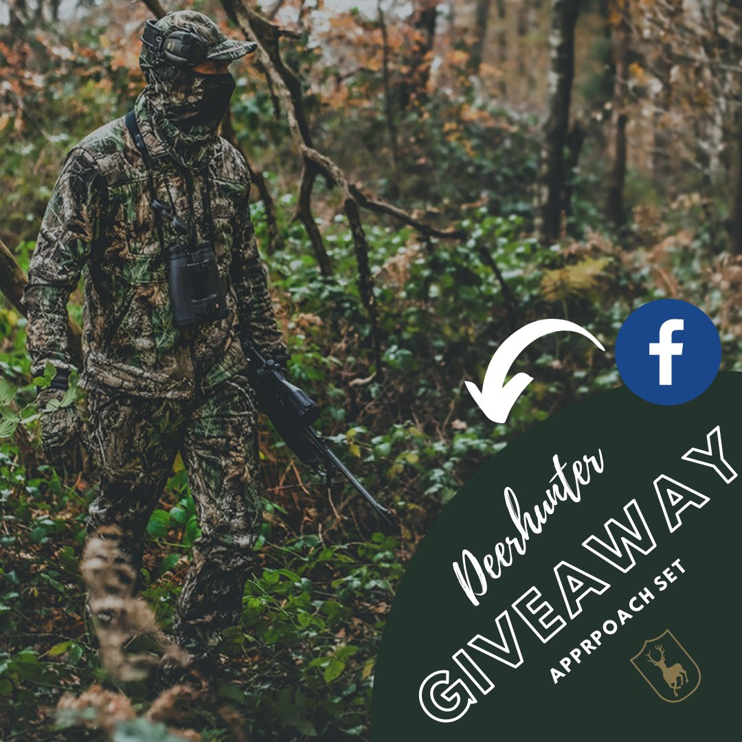 We have a cool giveaway on our Facebook where you can win our new Approach set (trousers & jacket)  👉 https://t.co/Wwal4QpOnl  We will find a winner on Thursday, May 7 at 12 Noon🍀  #Deerhunter #huntinggear #Realtree #camouflage #camo #huntingseason #huntingclothing #buckhunting https://t.co/HQOB0yz9TG