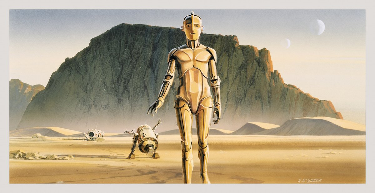 #MayTheFourthBeWithYou! Were obsessing over #RalphMcQuarries original concept art for Star Wars ⭐