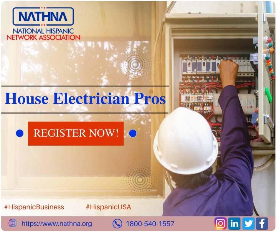 Compare Multiple Top-rated Local Pros And Hire A Skilled Electrician Near You And Get Your Job Done. List Your Business With Us And Become A Hispanic Member. visit us nathna.org #hispanicUSA #Nathna #Electrician #Electriciannearme #Hispanicbusiness #Listtoday