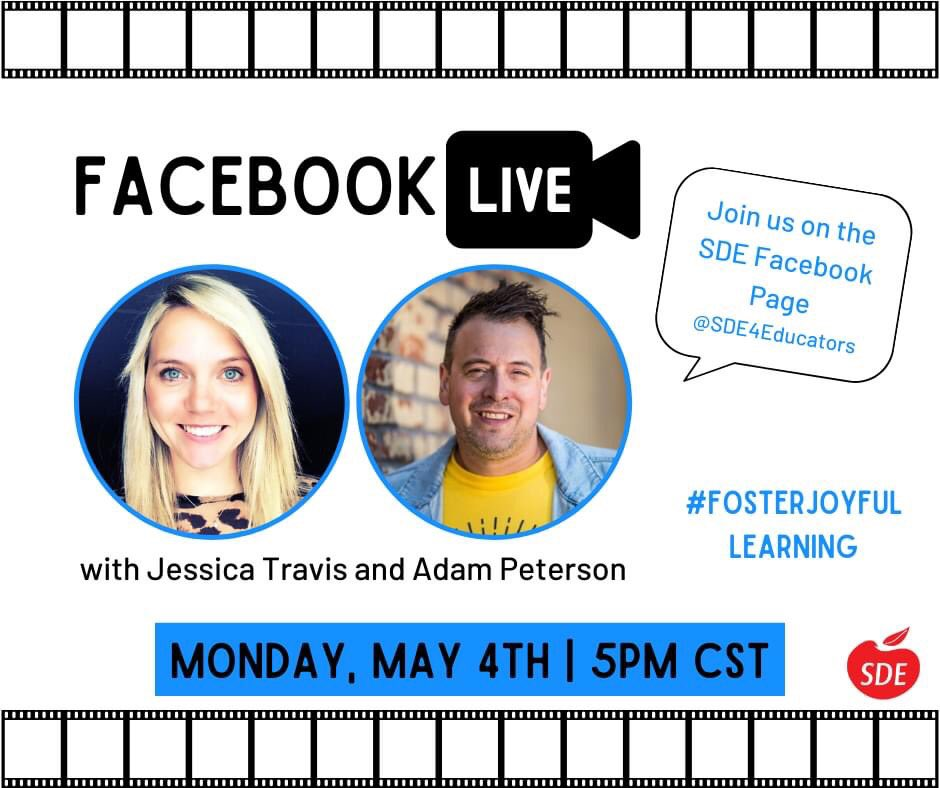 Join me tonight on the @SDE4Educators FB page with the one and only Jessica Travis! #fosterjoyfullearning <br>http://pic.twitter.com/yHcPrvfUEf