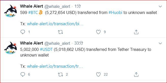 仮想通貨大口投資家送金情報夜になり、数時間、かなり激しく大きな送金が頻繁になっています。急騰急落、乱高下、ジグザグにお気をつけて・・。2.3日は、念の為気を付けたほうがいいと思います。