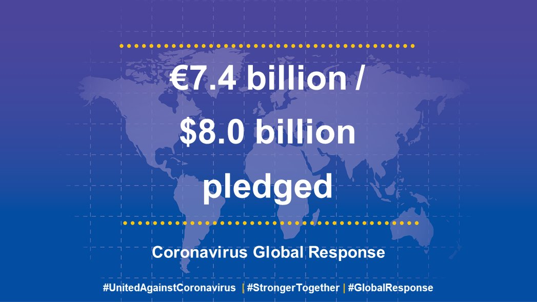 Thank you for supporting the Coronavirus Global Response #UnitedAgainstCoronavirus  #StrongerTogether https://t.co/kO7bvYSx5j