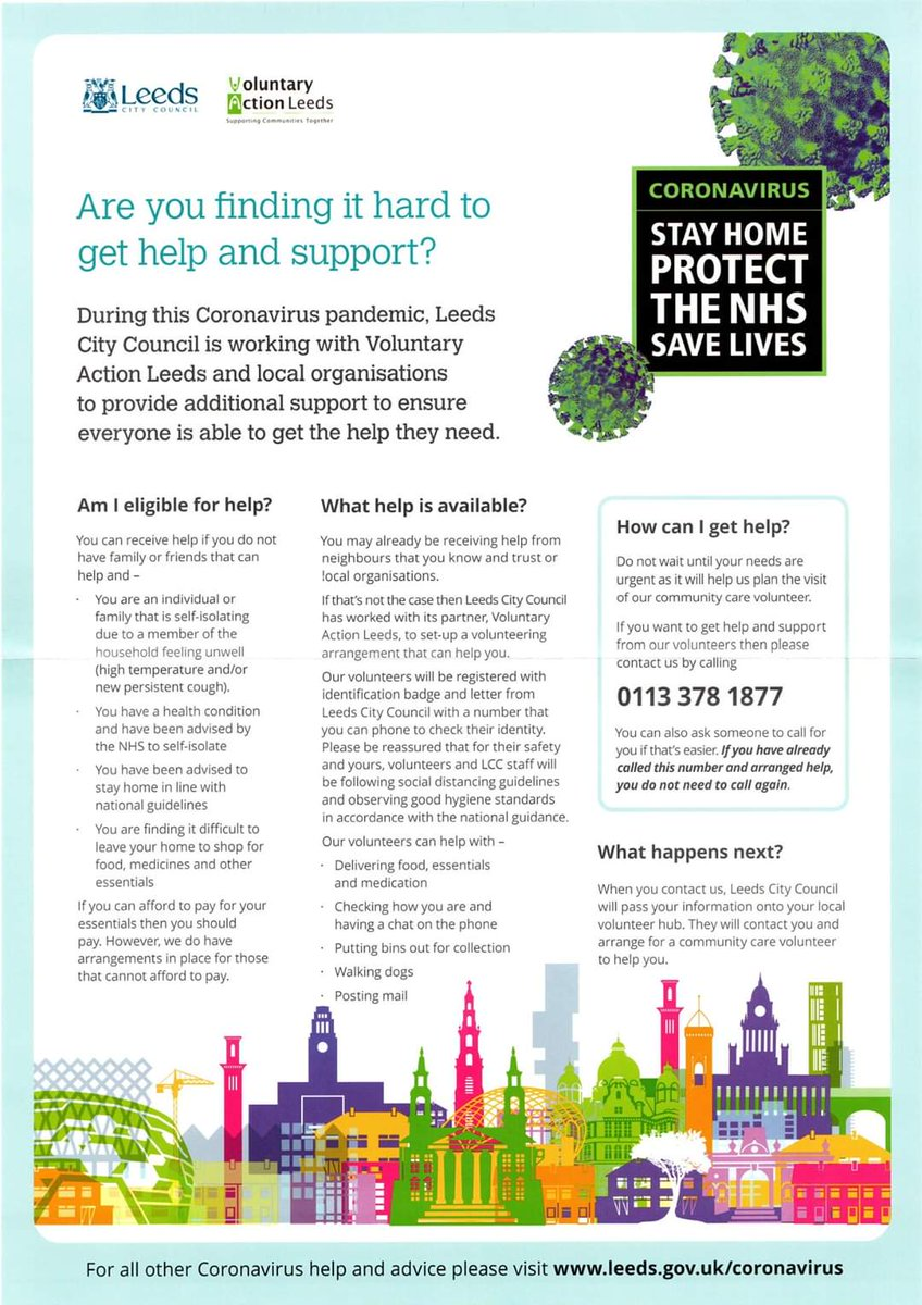 Please remember the help available for our residents / our communities #CaringLeeds