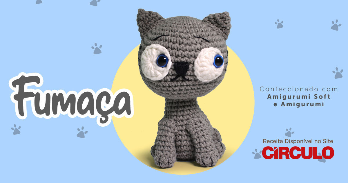 Amigurumi Gatinho Em Crochê – Material e Vídeo | Bigtudo Artesanato | 630x1200