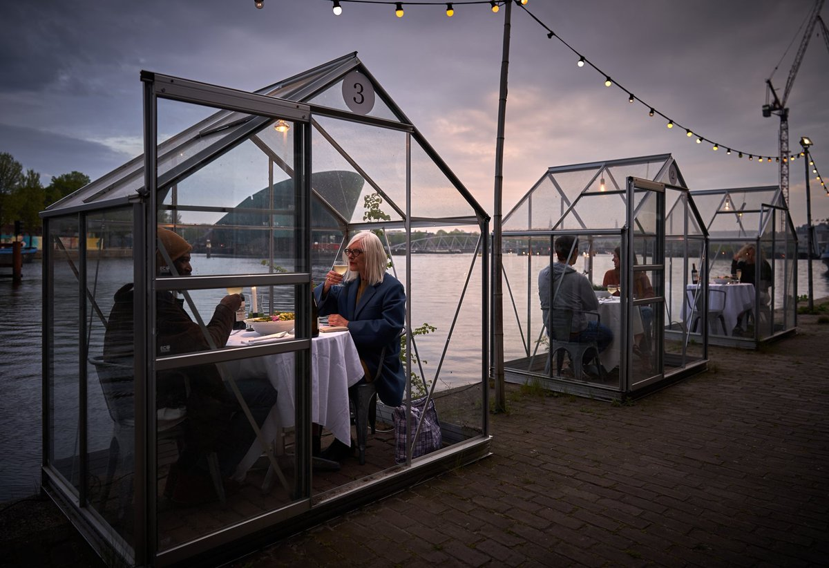 While South Africa isn't quite ready for dining out in restaurants, a few eateries around the world are getting creative with their social distancing dining options, from individual glass 'greenhouses' to table reservations for one. https://t.co/39T4PiBTVM https://t.co/NuhavJP7c2