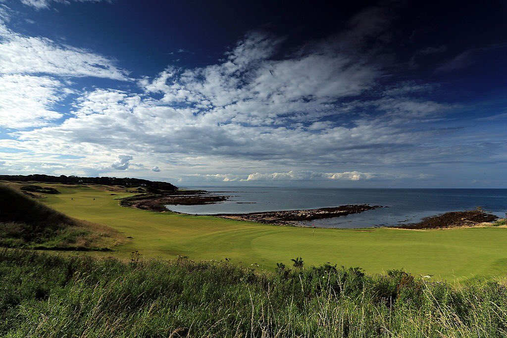 A dramatic backdrop at #dunhilllinks course @KingsbarnsGL, which has sea views from every hole.