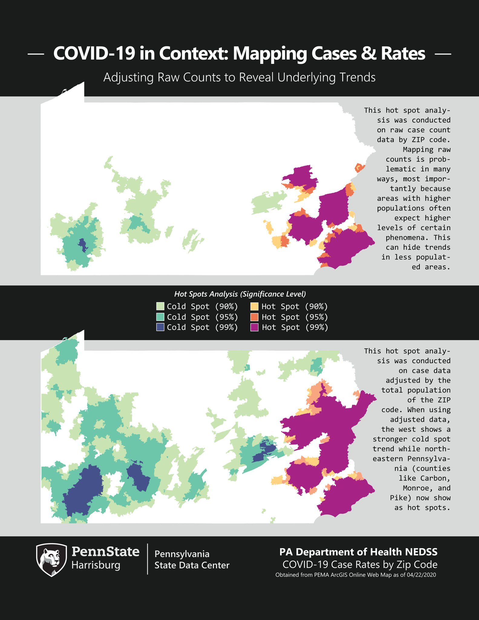 Picture of: Pa State Data Center On Twitter Our Latest Map Shows How Mapping Covid Rates Cases Per Total Population Instead Of Raw Case Counts Can Reveal Additional Hot And Cold Spots At The